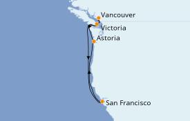 Itinerario de crucero Alaska 8 días a bordo del Queen Elizabeth