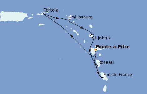Itinerario del crucero Caribe del Este 7 días a bordo del Costa Diadema