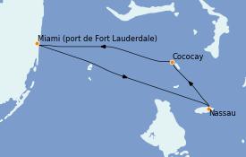 Itinerario de crucero Bahamas 4 días a bordo del Liberty of the Seas