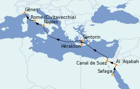 Itinerario de crucero Trasatlántico y Grande Viaje 2022 14 días a bordo del MSC Magnifica