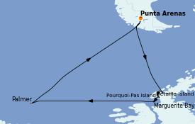 Itinerario de crucero Norteamérica 15 días a bordo del Le Commandant Charcot