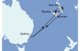 Itinerario de crucero Australia 2023 9 días a bordo del Ovation of the Seas