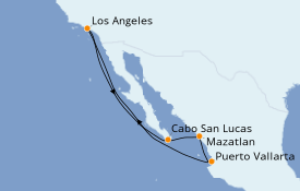 Itinerario de crucero Riviera Mexicana 8 días a bordo del Discovery Princess