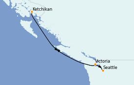 Itinerario de crucero Alaska 6 días a bordo del Norwegian Spirit