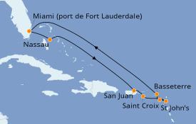 Itinerario de crucero Caribe del Este 11 días a bordo del Celebrity Millenium