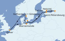 Itinerario de crucero Mar Báltico 13 días a bordo del Carnival Legend