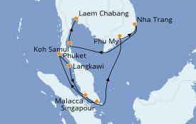Itinerario de crucero Trasatlántico y Grande Viaje 2022 12 días a bordo del Norwegian Sun