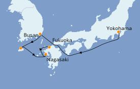 Itinerario de crucero Asia 6 días a bordo del Costa neoRomantica