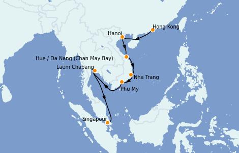 Itinerario del crucero Asia 12 días a bordo del Celebrity Solstice