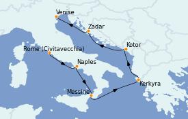 Itinerario de crucero Mediterráneo 8 días a bordo del ms Westerdam
