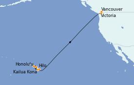 Itinerario de crucero Hawaii 13 días a bordo del Celebrity Eclipse