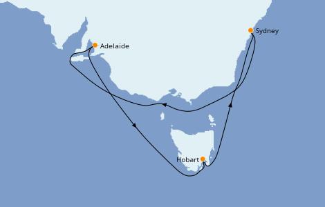 Itinerario del crucero Australia 2023 8 días a bordo del Ovation of the Seas