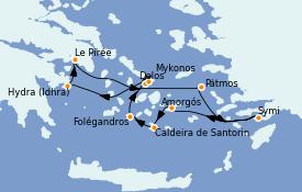 Itinerario de crucero Grecia y Adriático 8 días a bordo del Le Bougainville