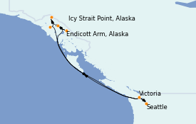 Itinerario de crucero Alaska 8 días a bordo del Quantum of the Seas