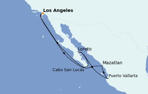 Itinerario del crucero Riviera Mexicana 10 días a bordo del Discovery Princess