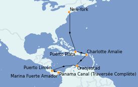 Itinerario de crucero Caribe del Este 12 días a bordo del Norwegian Jewel