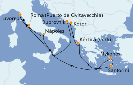 Itinerario de crucero Trasatlántico y Grande Viaje 2021 11 días a bordo del Norwegian Getaway