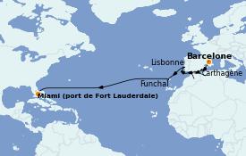 Itinerario de crucero Mediterráneo 15 días a bordo del ms Oosterdam