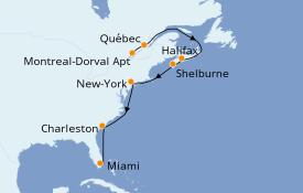 Itinerario de crucero Canadá 13 días a bordo del Seabourn Quest