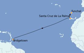 Itinerario de crucero Islas Canarias 10 días a bordo del Silver Dawn