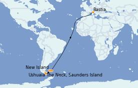 Itinéraire de la croisière Amérique du Sud 15 jours à bord du Le Lyrial