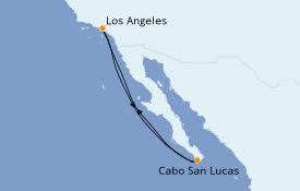 Itinéraire de la croisière Riviera Mexicaine 6 jours à bord du Discovery Princess