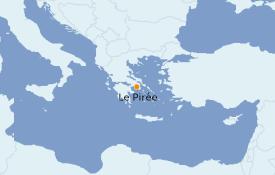 Itinéraire de la croisière Grèce & Adriatique 6 jours à bord du Celestyal Olympia