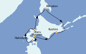 Itinéraire de la croisière Asie 7 jours à bord du