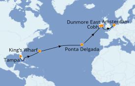 Itinéraire de la croisière Transatlantiques et Grands Voyages 2020 16 jours à bord du Brilliance of the Seas
