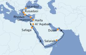 Itinéraire de la croisière Grèce & Adriatique 20 jours à bord du Seven Seas Explorer