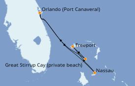 Itinéraire de la croisière Bahamas 5 jours à bord du Norwegian Escape