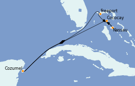 Itinéraire de la croisière Bahamas 8 jours à bord du Adventure of the Seas