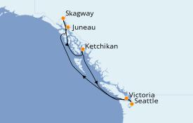 Itinéraire de la croisière Alaska 8 jours à bord du Ruby Princess