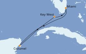 Itinéraire de la croisière Caraïbes de l'Ouest 6 jours à bord du Celebrity Infinity