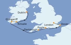 Itinéraire de la croisière Îles Britanniques 8 jours à bord du Le Boréal