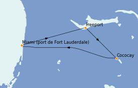 Itinéraire de la croisière Bahamas 4 jours à bord du Liberty of the Seas