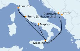 Itinéraire de la croisière Méditerranée 8 jours à bord du Norwegian Spirit