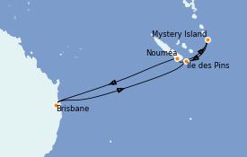 Itinerario de crucero Australia 2022 8 días a bordo del