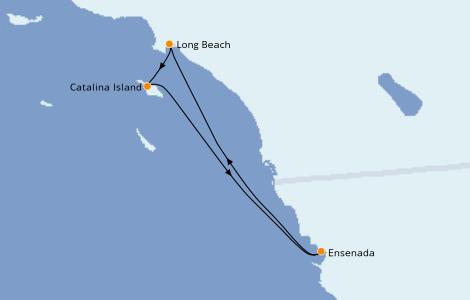 Itinéraire de la croisière Californie 4 jours à bord du Carnival Radiance