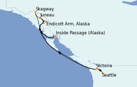 Itinéraire de la croisière Alaska 8 jours à bord du Ovation of the Seas