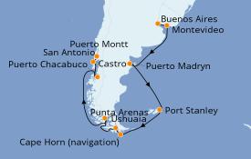 Itinéraire de la croisière Amérique du Sud 16 jours à bord du Norwegian Star