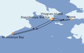 Itinéraire de la croisière Mer Baltique 13 jours à bord du Silver Explorer