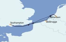 Itinerario de crucero Mar Báltico 6 días a bordo del Regal Princess