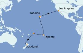 Itinéraire de la croisière Australie 2022 22 jours à bord du Majestic Princess