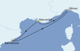Itinéraire de la croisière Méditerranée 4 jours à bord du MSC Magnifica