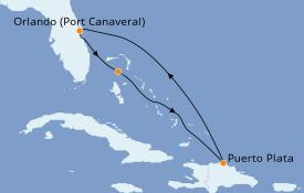 Itinéraire de la croisière Caraïbes de l'Est 6 jours à bord du Norwegian Sun