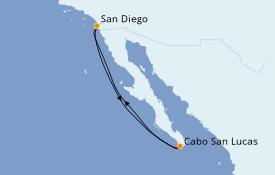 Itinéraire de la croisière Riviera Mexicaine 6 jours à bord du Carnival Miracle