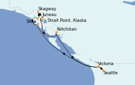 Itinerario de crucero Alaska 10 días a bordo del Norwegian Sun