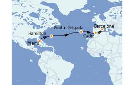 Itinéraire de la croisière Méditerranée 15 jours à bord du Seven Seas Voyager