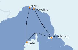 Itinéraire de la croisière Méditerranée 5 jours à bord du Club Med 2